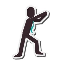 Businessman reaching pictogram icon vector