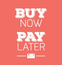 Buy now pay later credit cards quotes vector