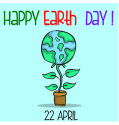 Collection happy earth day style vector
