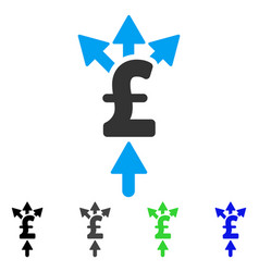 Divide pound payment flat icon vector