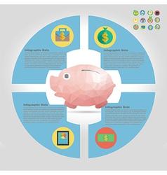 finance infographic element vector image