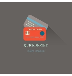 Flat style credit card icon vector