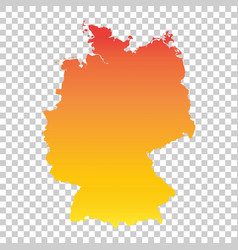 Germany map colorful orange vector