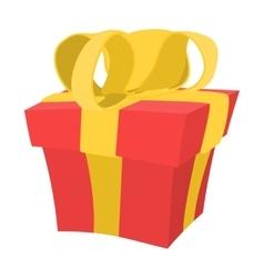 Gift box cartoon icon vector image