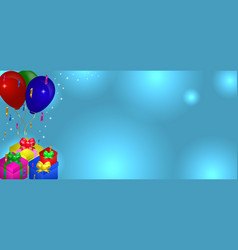 gifts with balloons vector image