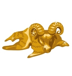 Gold figure of calf taurus isolated vector