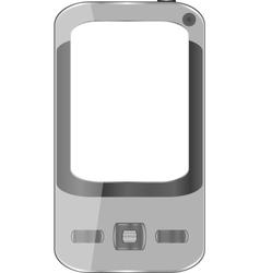 grey smartphone vector image vector image