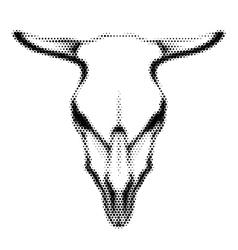 Halftoned skull vector