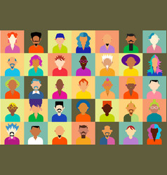 hipster people icons vector image