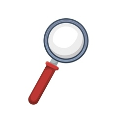 magnifying glass with red base vector image vector image
