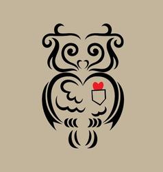 Owl ornament vector