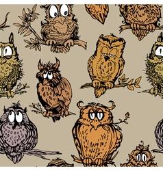 owl seamless 2 380 vector image