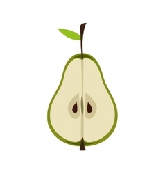 pear fruit icon vector image