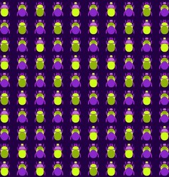 Seamless pattern with bugs vector image
