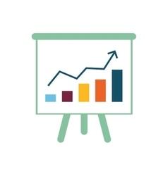 Success statistics bars vector
