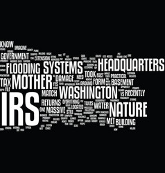 The irs vs mother nature text background word vector