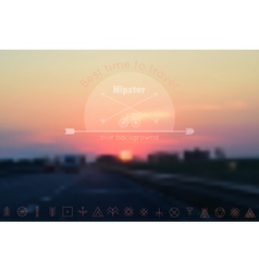 Trendy hipster blur background and logotypes4 vector