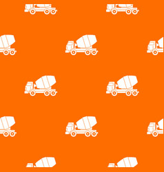 truck concrete mixer pattern seamless vector image