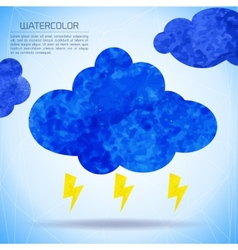 Watercolor background with nature and weather vector image vector image