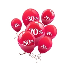 Balloons with discount sign vector