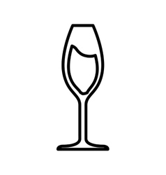 Glass drink alcohol beverage icon vector
