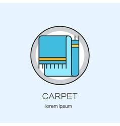 Carpeting shop DIY line icon logotype design vector image