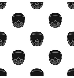 Protective maskpaintball single icon in black vector