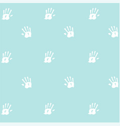 Seamless pattern prints of hands of the child vector