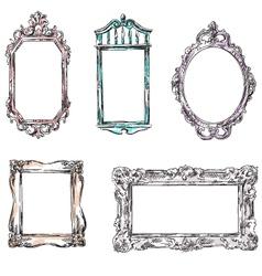 Set of retro frames vector