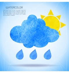 Watercolor background with nature and weather vector