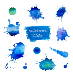 Watercolor blobs set vector