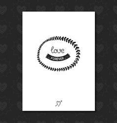Vintage love label vector image
