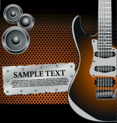 Rock music background vector