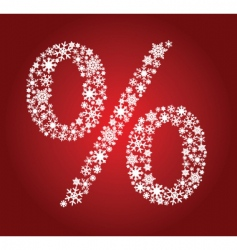 Christmas percentage vector