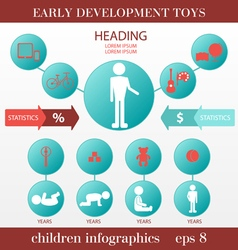 Children infographics vector