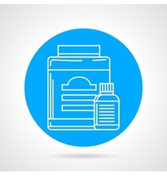 Flat round icon for sport supplements vector