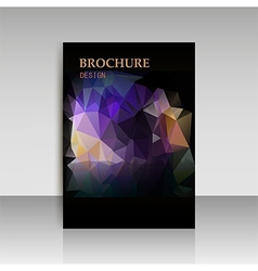 Abstract modern cover report brochure flyer design vector