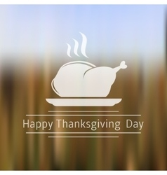Happy thanksgiving day blurred background vector