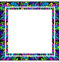 Glass abstract square frame vector
