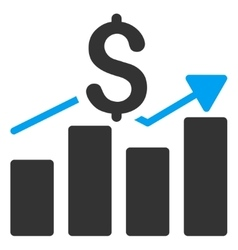 Sales bar chart icon vector
