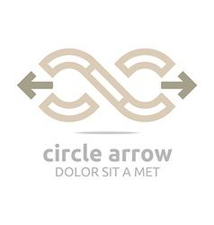 Arrow design infinity element arch symbol icon vector