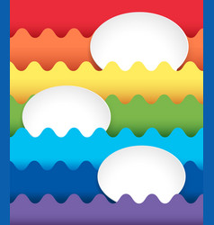background design with oval spaces on rainbow vector image vector image