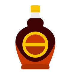 bottle of maple syrup icon isolated vector image