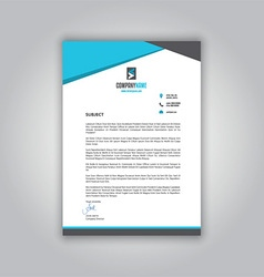 business letterhead 1008 vector image vector image