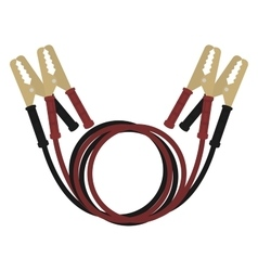 Car jumper power cables vector