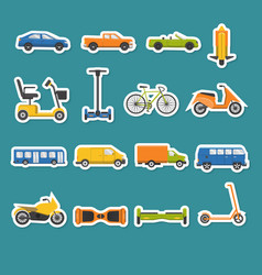 collection of transport icons vector image vector image