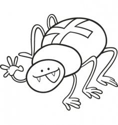 cross spider vector image