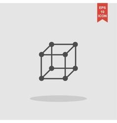 cube icon concept for design vector image