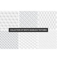 Decorative white seamless textures geometric vector