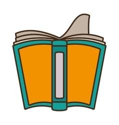Drawing open book school utensil vector